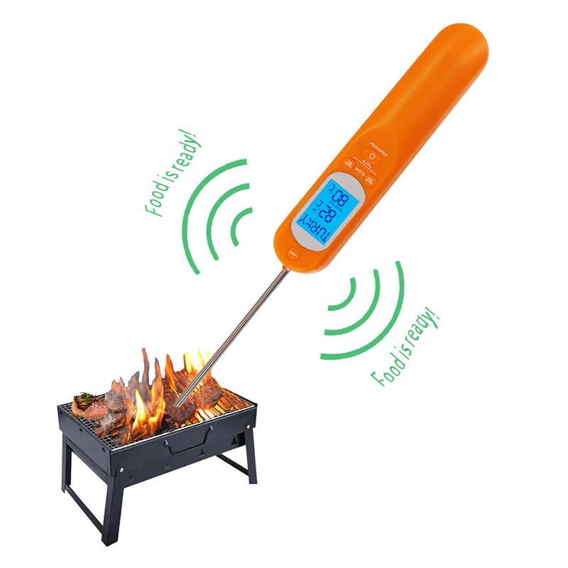 2019 ny design Vissa delar av digital termometer för att mäta alla typer av kötttermometer med klocka och timer
