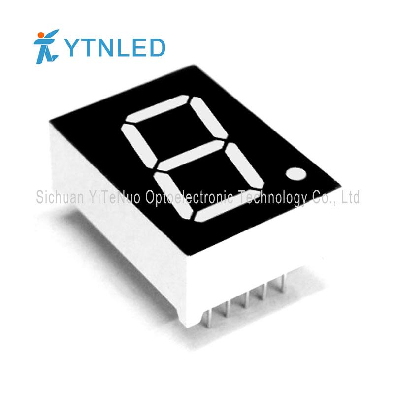 0,8 tum röd 1 siffra 7 Segment LED-display, digitalt rör