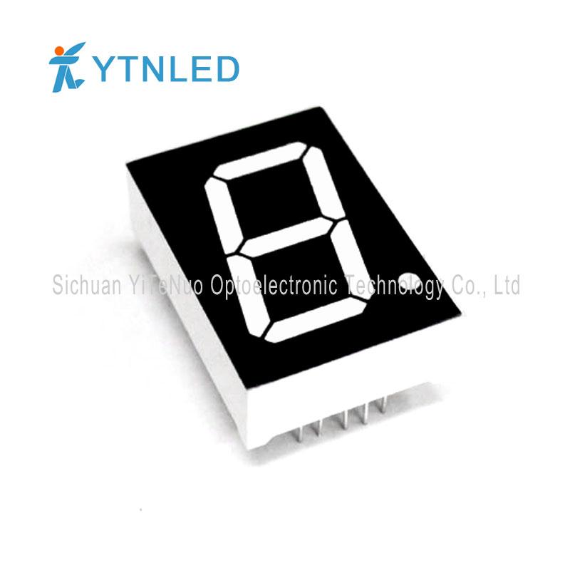 1 tum röd 1 siffra 7 Segments LED-display, digitalt rör