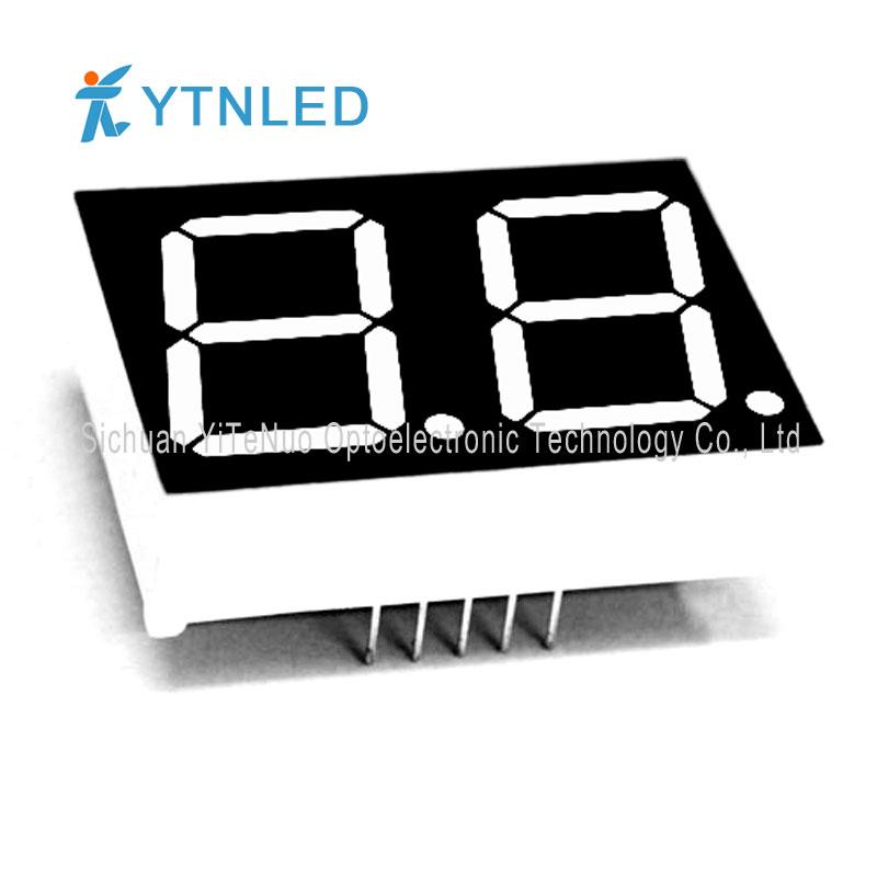 0,8 tum 2-siffrig röd 7 Segments LED-display, digitalt rör