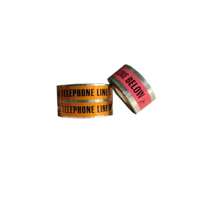 Tillverkarens hög kvalitet per skärning PVC-barrikad underjordisk detekterbar kabelvarning aluminiumfolieband