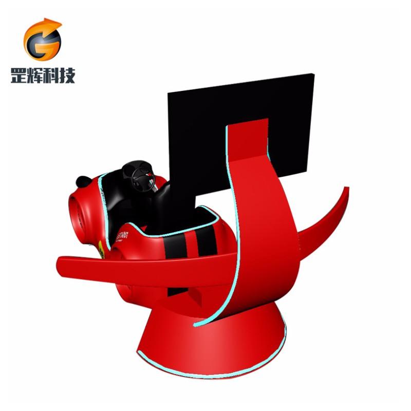 Simulator VR Machine Global Hot rea Theme Park utrustning med tre axlar Vr racing car