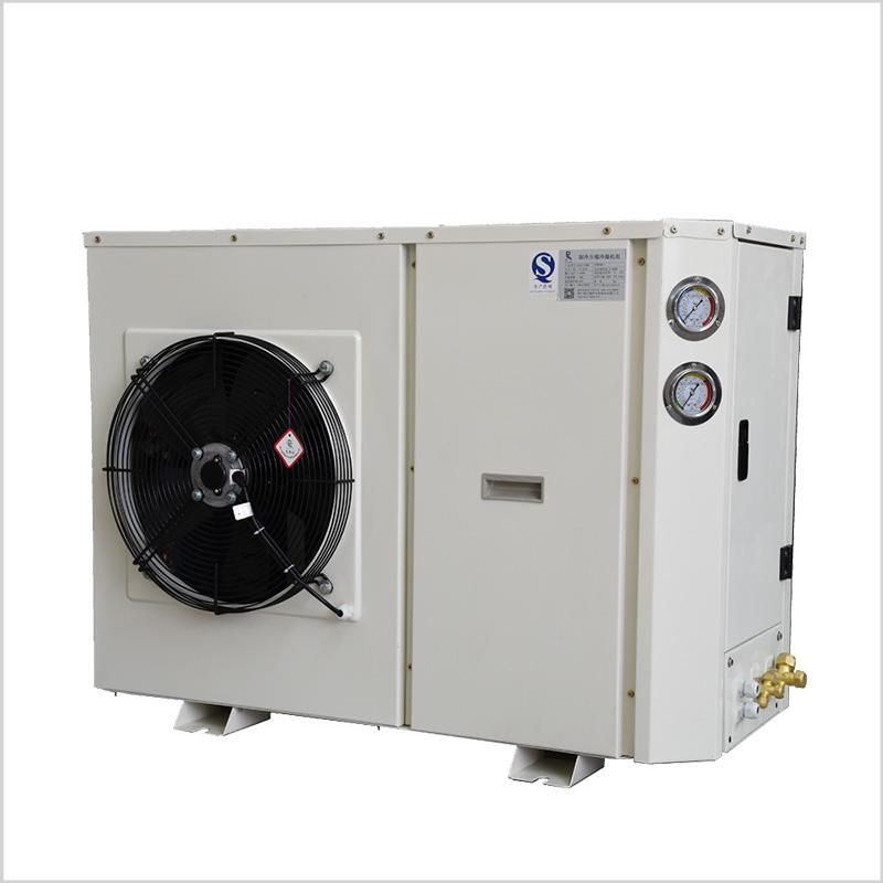 Sida på kondenseringsenheten för luft