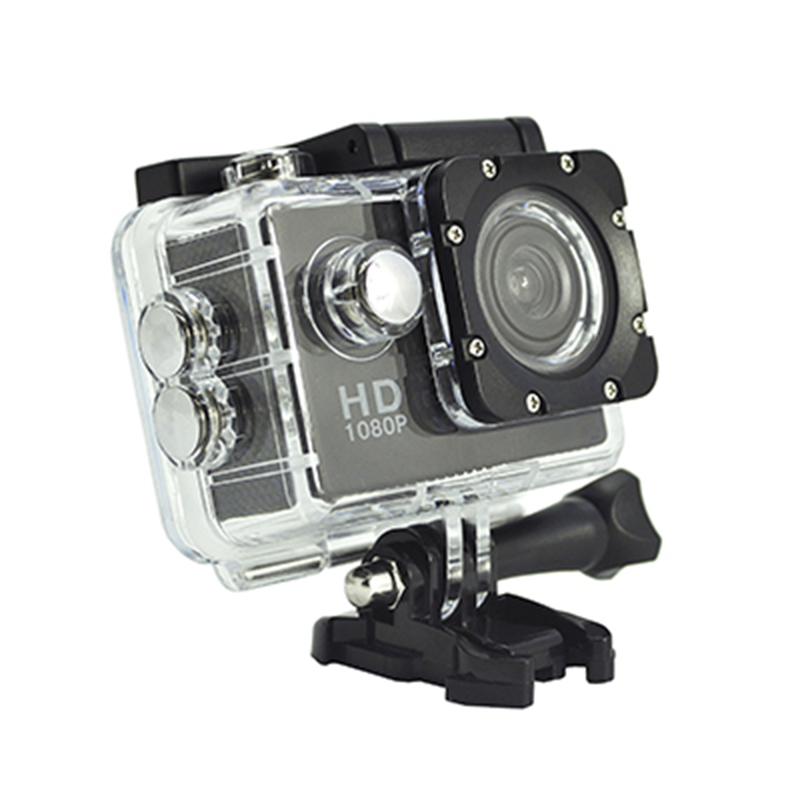Bärbar Real HD 720P Action Camera 140-graders View Angle 2,0-tums skärm D12A