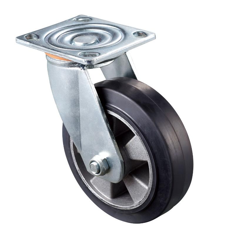 Heavy Duty - Förkromad hölje med Black2 TPE-hjul