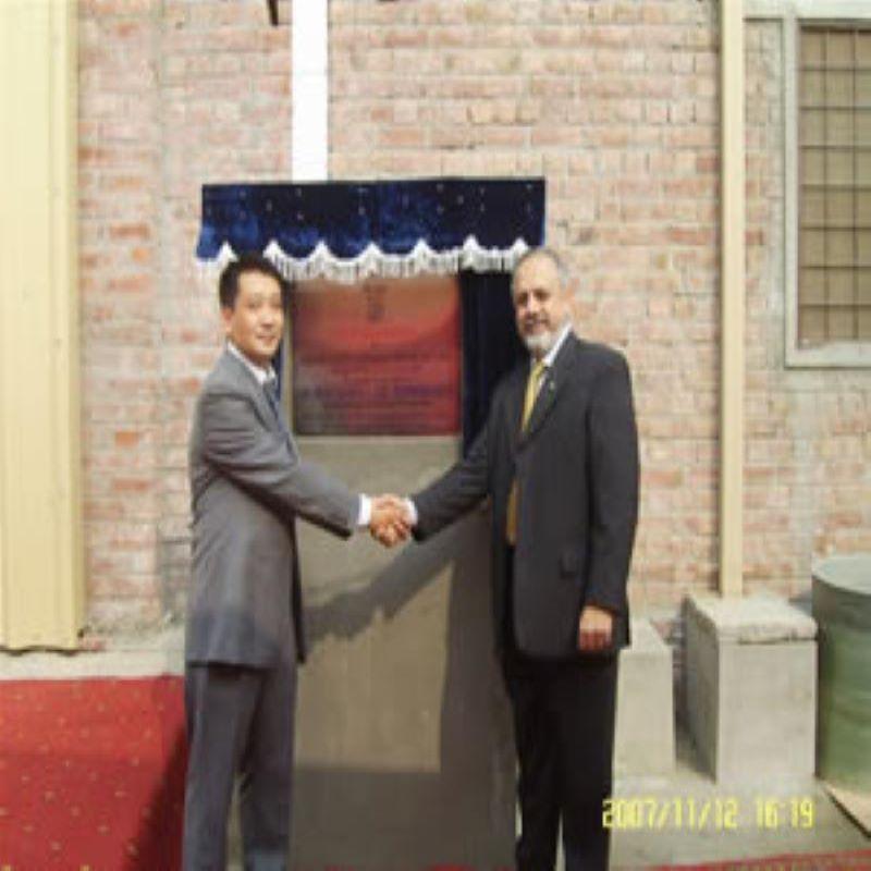 Herr Shan xiaowu deltog i fabrikens öppningsceremoni