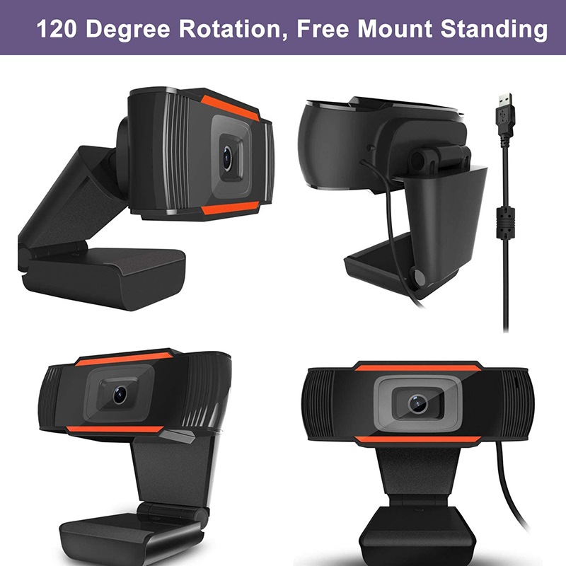 HD 1080P Computer Webcam PC desktop Rotable USB-2.0 Kamera med digital mikrofon
