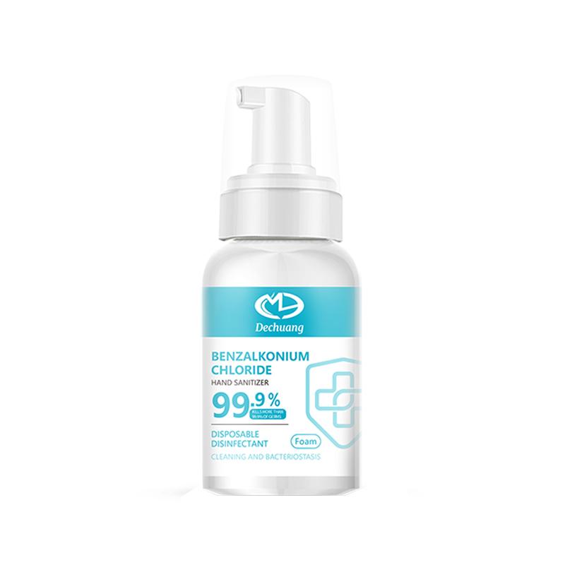 Använd Bensalkoniumklorid Icke- tvättning Skuaming Sanitizer för att skydda handhälsan