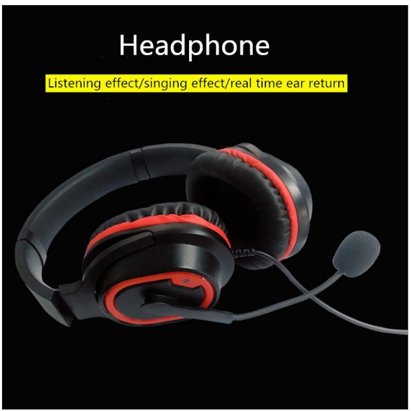 Anpassade grossisttelefoner med typ-C-head mobiltelefon musikspel med mikrofon i realtid med mikrofonheadset
